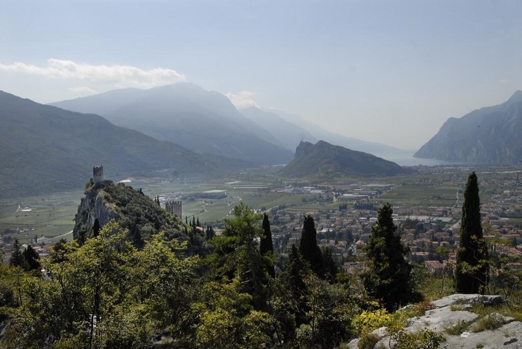 Klettersteig Riva Del Garda : Mountain summit cima capi panorama near riva del garda italy