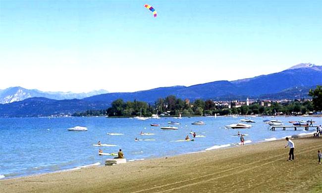 gardasee strand karte Strand in Lazise   Gardasee